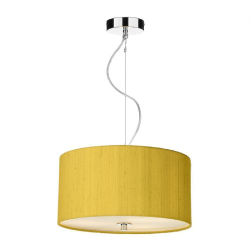 Renoir 40CM 3 Light Pendant with Silk Shade (Choose colour) REN10 (Hand made, 10-14 day Del)